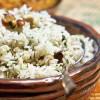 Koriandri ja india pähklitega riis