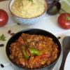 Chakalaka ja mielie pap (Lõuna-Aafrika tomati-oapada ja polentapuder)